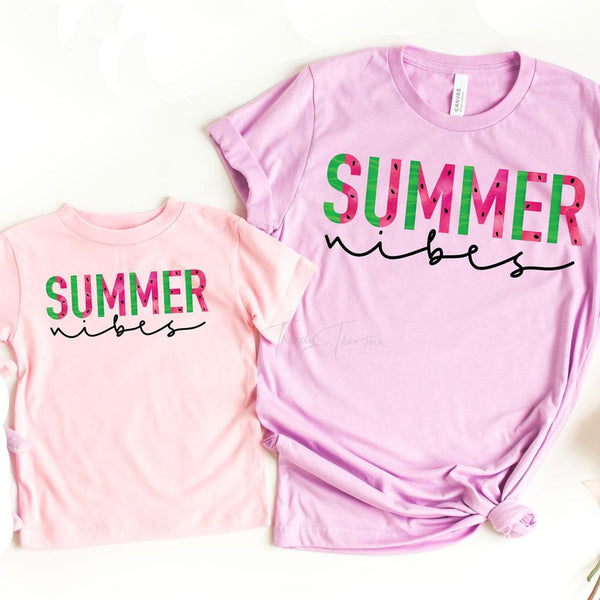 Summer Vibes  Watermelon YOUTH SHIPS 5/21 Screen Print Heat Transfer