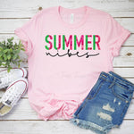 Summer Vibes  Watermelon SHIPS 5/21 Screen Print Heat Transfer