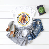 She's a Sunflower Hippie Chick Sublimation Transfer