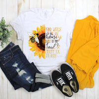 Sunflower Kind Words Are Like Honey Sublimation Transfer