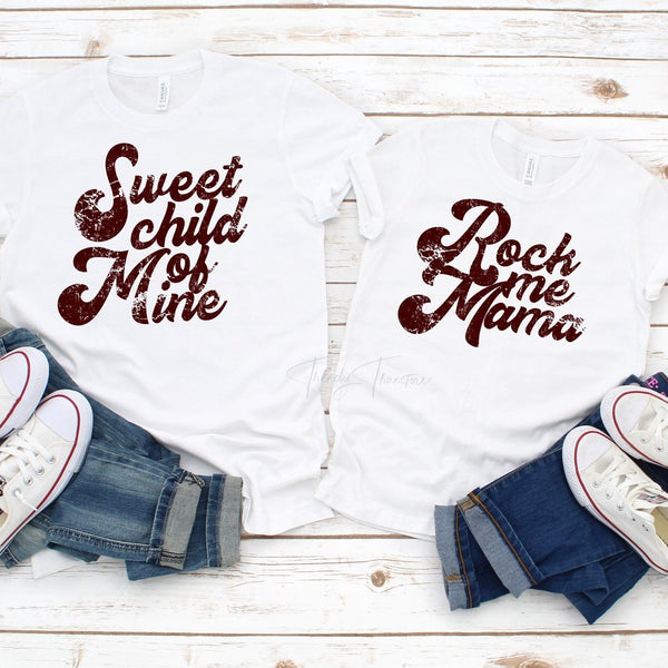 Rock Me Mama YOUTH and TODDLER Sublimation Transfer
