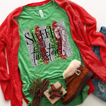 Sweet But Twisted Candy Cane Screen Print Heat Transfer