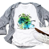T-rex short arms Yeah B!tch Now What? Sublimation Transfer