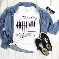 Take a sad song and make it better Beatles Fan Art Sublimation Transfer