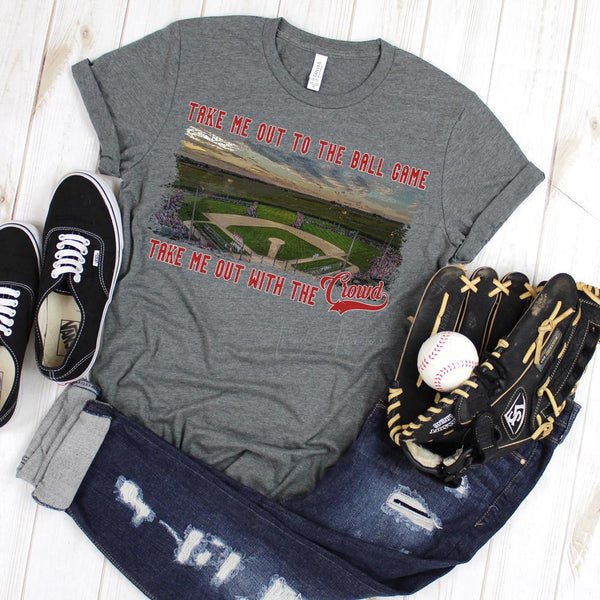 Take Me Out To The Ball Game Small Town Field SHIPS 2/18 Screen Print Heat Transfer