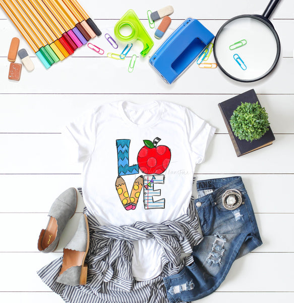 Teacher LOVE Word Art Sublimation Transfer