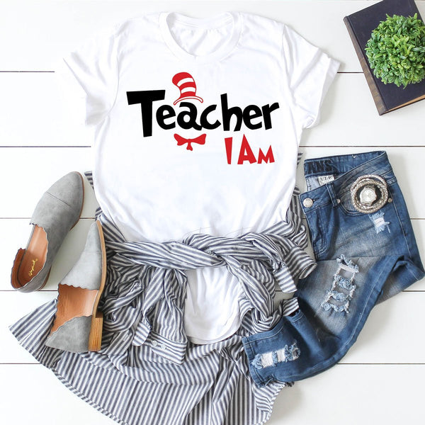 Teacher I Am Dr. Seuss Sublimation Transfer