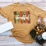 Thankful Brush Stroke Screen Print Heat Transfer