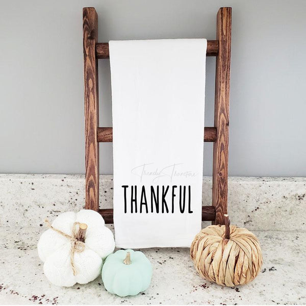 Thankful Tea Towel Screen Print Heat Transfer