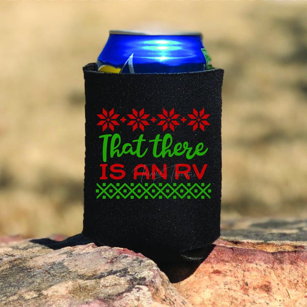 That there is an RV Christmas Vacation Pocket Can Hugger Screen Print Heat Transfer