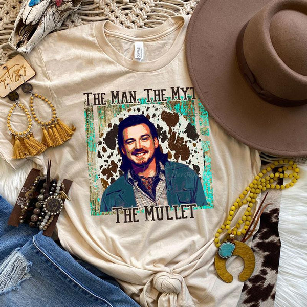 The Man The Myth The Mullet Screen Print Heat Transfer