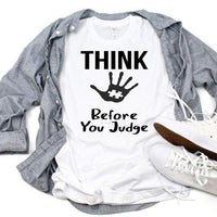 Autism Awareness Think Before You Judge Sublimation Transfer