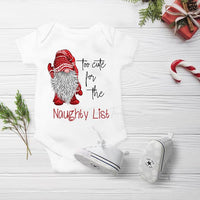 Christmas Gnome Too Cute for the Naughty List BOY Gnome Sublimation Transfer