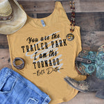 You Are The Trailer Park I Am The Tornado SHIPS 8/10 Screen Print Transfer