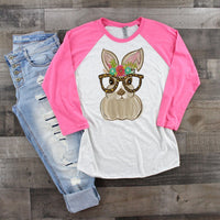 Bunny With Leopard Glasses Easter Sublimation Transfer