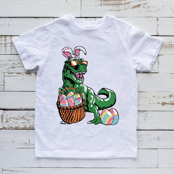 T-Rex With Easter Eggs Sublimation Transfer