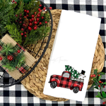Buffalo Plaid Truck Tea Towel Screen Print Heat Transfers