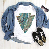 Turquoise Arrowhead Sublimation Transfer