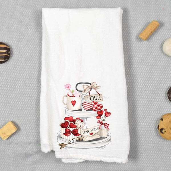 Valentine Tea Towel Screen Print Heat Transfer