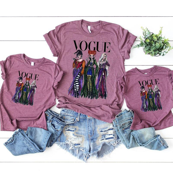 Hocus Pocus Sanderson sisters Vogue YOUTH SHIPS  Screen Print Heat Transfer
