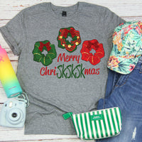 Merry ChriSKSKSKmas wreath Scrunchies Christmas VSCO Screen Print Transfer