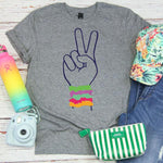 VSCO Peace Sign Scrunchies Screen Print Transfer