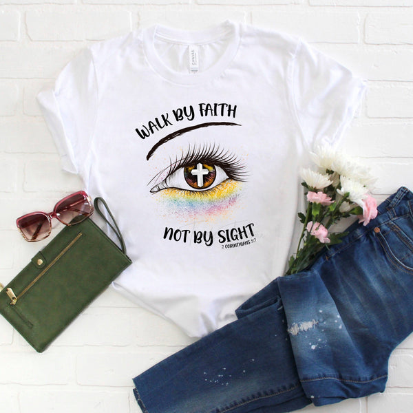 Glitter Eye Walk By Faith Not By Sight Sublimation Transfer