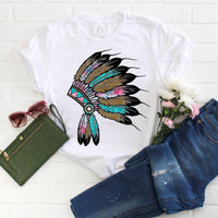 Watercolor and Leopard Print Headdress Sublimation Transfer