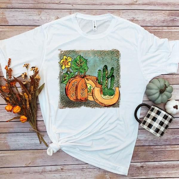Watercolor Leopard Pumpkin Sublimation Transfer