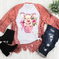 Whatever Frosts Your Cupcake Watercolor Pig Sublimation Transfer