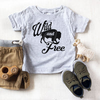 Wild And Free Buffalo Youth Screen Print Heat Transfer