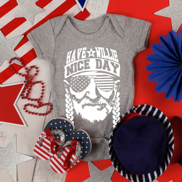 Have a Willie Nice Day INFANT Screen Print Heat Transfer