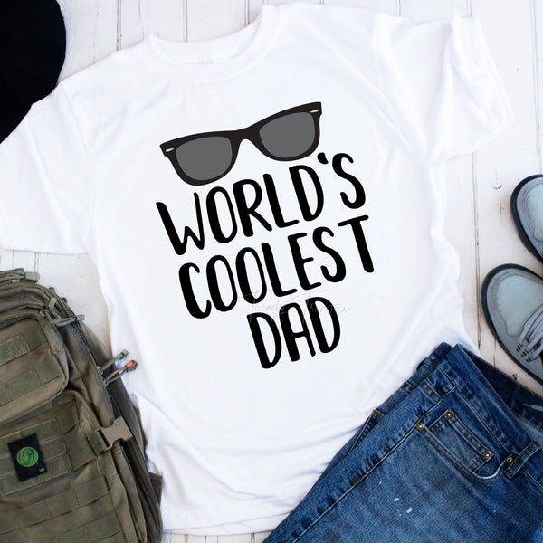 Worlds Coolest Dad Sublimation Transfer