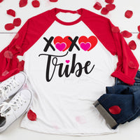 XOXO Hearts Tribe Adult Screen Print Heat Transfer