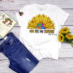 You are my sunshine Autism awareness Sunflower Sublimation Transfer