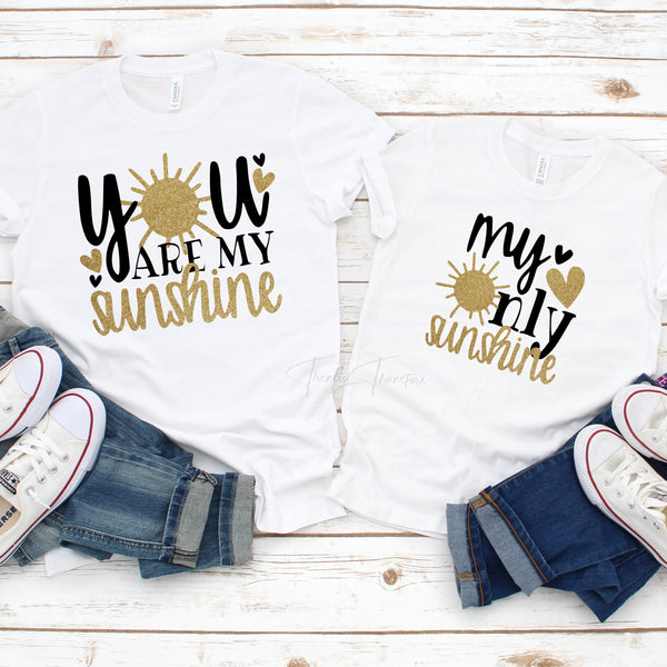'You are my sunshine' part of mommy and me set Sublimation Transfer