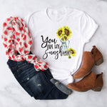 You are my sunshine Sunflower vase Sublimation Transfer