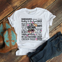 Zac Brown Band Word Art Sublimation Transfer