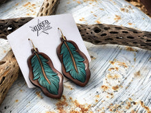 Load image into Gallery viewer, Feather Earrings Medium
