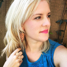 Load image into Gallery viewer, Baby Tooled Leather Earrings