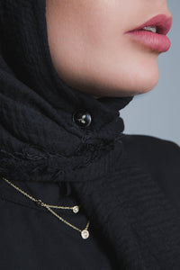 Black Crinkled Cotton Scarf - LunasEssentials.com