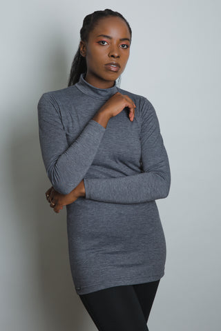 Grey Long Sleeve Top - LunasEssentials.com