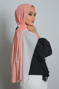 Pink Ombre Soft Crepe Scarf - LunasEssentials.com
