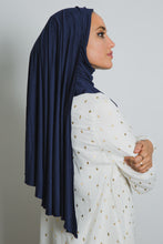 Load image into Gallery viewer, Navy Insta Hijab - LunasEssentials.com