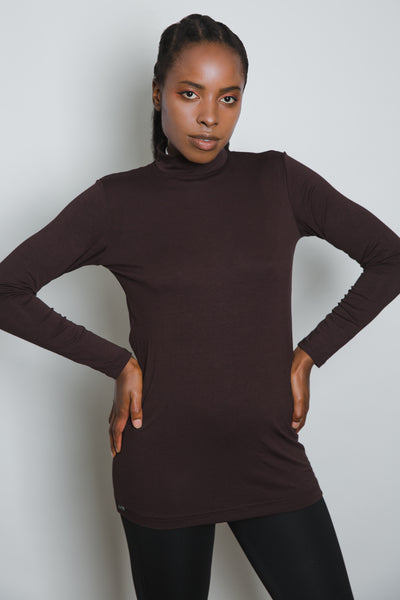 Brown Long Sleeve Top - LunasEssentials.com