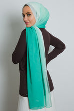 Load image into Gallery viewer, Green Ombre Soft Crepe Scarf - LunasEssentials.com