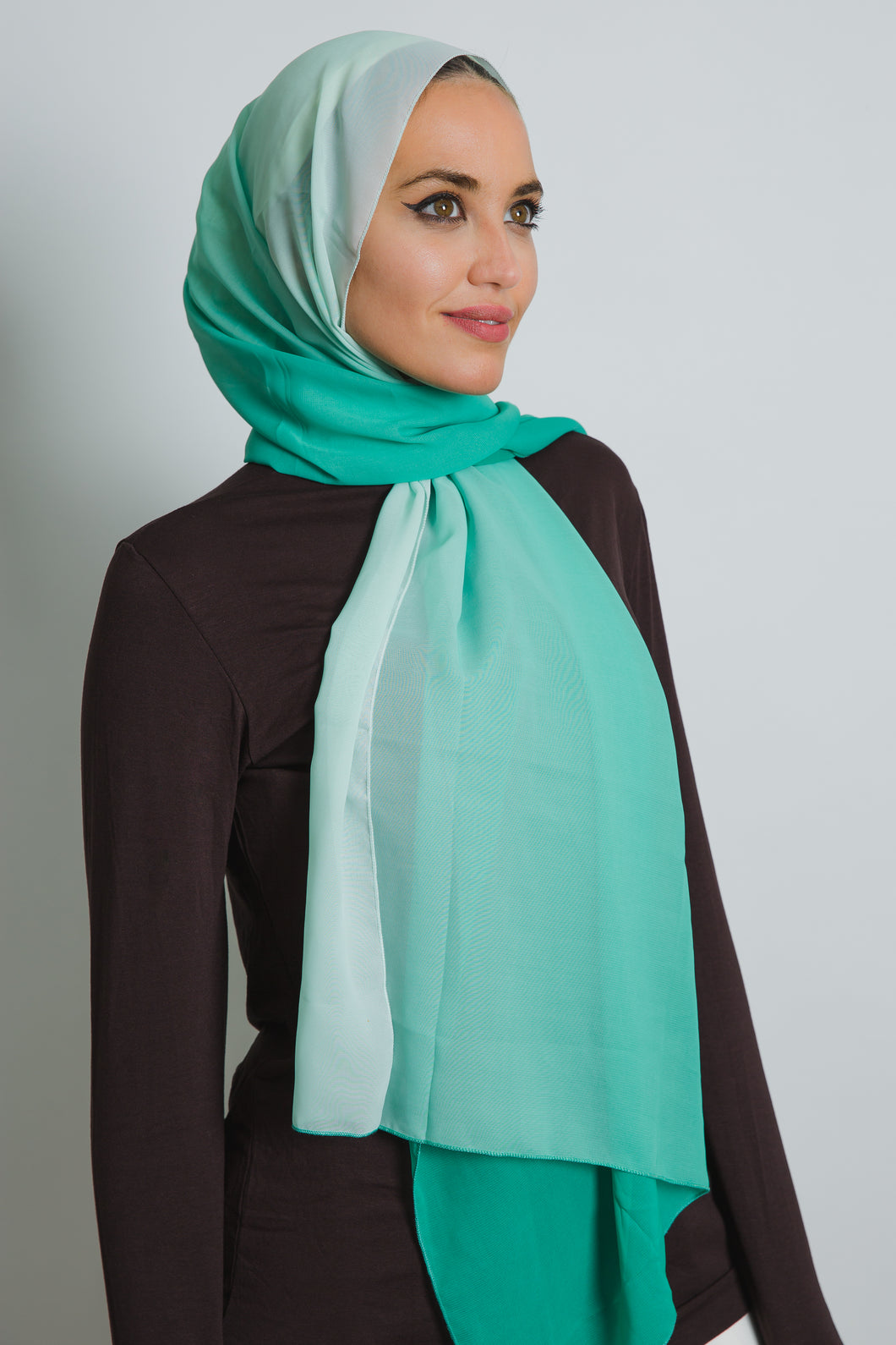 Green Ombre Soft Crepe Scarf - LunasEssentials.com
