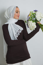 Load image into Gallery viewer, White Lace Crepe Scarf - LunasEssentials.com