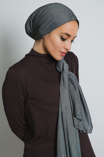 Black Cotton Spark Scarf - LunasEssentials.com