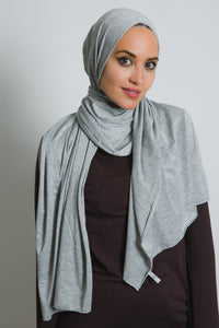 Grey Cotton Spark Scarf